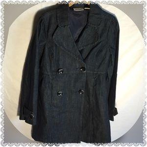 DKNY long jean jacket size small